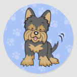 Cartoon Yorkie Sticker