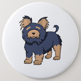 Cartoon Yorkshire Terrier Button