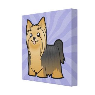 Cartoon Yorkshire Terrier (long hair no bow) Canvas Print