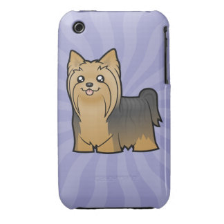 Cartoon Yorkshire Terrier (long hair no bow) iPhone 3 Case-Mate Case