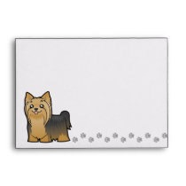 Cartoon Yorkshire Terrier (long hair no bow) Envelope