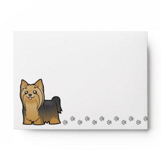 Cartoon Yorkshire Terrier (long hair no bow) Envelope