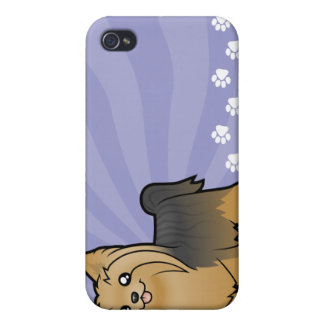 Cartoon Yorkshire Terrier (long hair no bow) iPhone 4/4S Cover