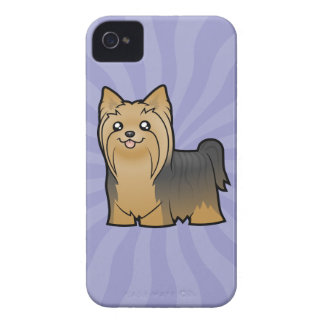 Cartoon Yorkshire Terrier (long hair no bow) iPhone 4 Cover
