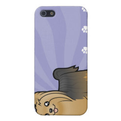 Case Savvy iPhone 5 Matte Finish Case with Yorkshire Terrier Phone Cases design