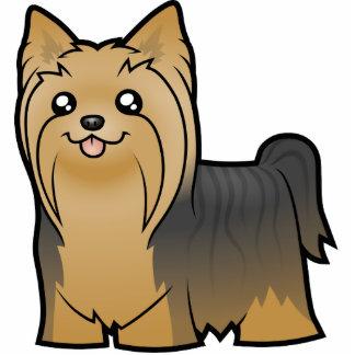 Cartoon Yorkshire Terrier (long hair no bow) Statuette