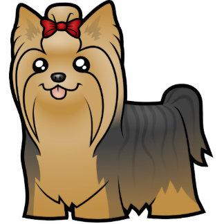 Cartoon Yorkshire Terrier (long hair with bow) Cutout