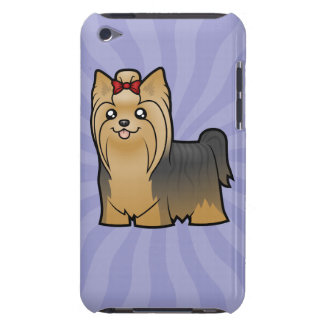 Cartoon Yorkshire Terrier (long hair with bow) iPod Case-Mate Case