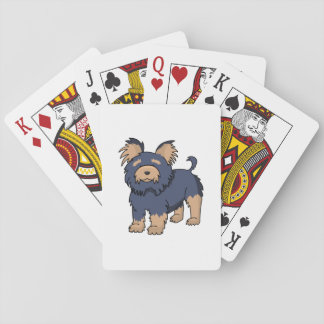 Cartoon Yorkshire Terrier Playing Cards
