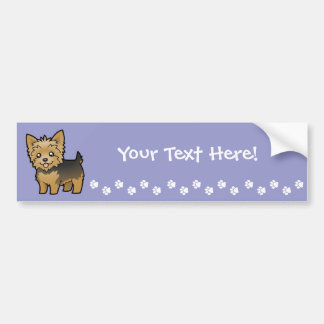 Cartoon Yorkshire Terrier (short hair no bow) Bumper Sticker