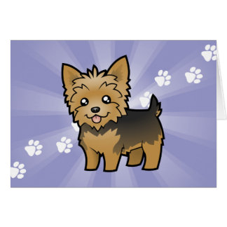 Cartoon Yorkshire Terrier (short hair no bow) Card
