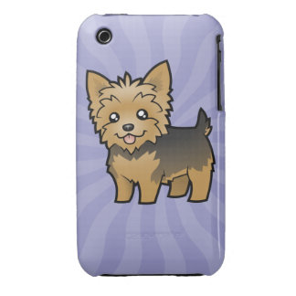 Cartoon Yorkshire Terrier (short hair no bow) iPhone 3 Case-Mate Cases