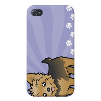 Cartoon Yorkshire Terrier (short hair no bow) Case For iPhone 4