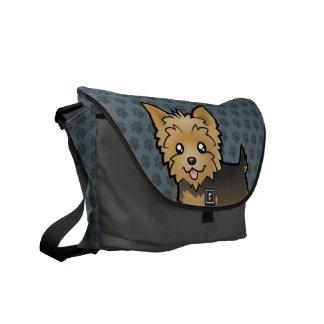Cartoon Yorkshire Terrier (short hair no bow) Courier Bag