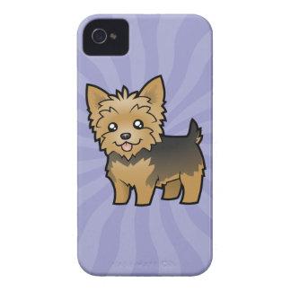 Cartoon Yorkshire Terrier (short hair no bow) iPhone 4 Case-Mate Case