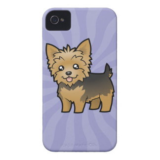 Cartoon Yorkshire Terrier (short hair no bow) iPhone 4 Cover