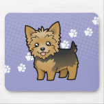 Cartoon Yorkshire Terrier (short hair no bow) Mouse Pad