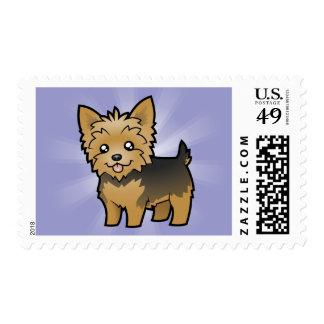 Cartoon Yorkshire Terrier (short hair no bow) Postage