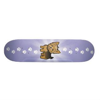Cartoon Yorkshire Terrier (short hair no bow) Skate Board