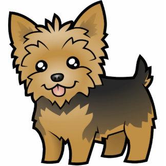 Cartoon Yorkshire Terrier (short hair no bow) Statuette