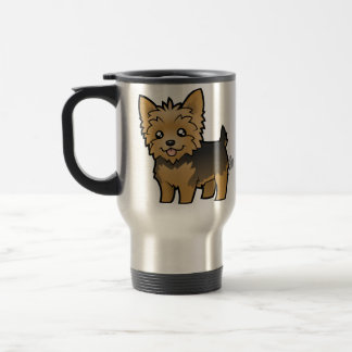 Cartoon Yorkshire Terrier (short hair no bow) Travel Mug