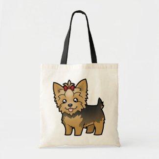 Cartoon Yorkshire Terrier (short hair with bow) Bag