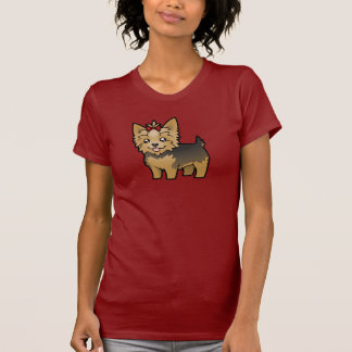 Cartoon Yorkshire Terrier (short hair with bow) T-Shirt