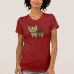 Cartoon Yorkshire Terrier (short hair with bow) T Shirt