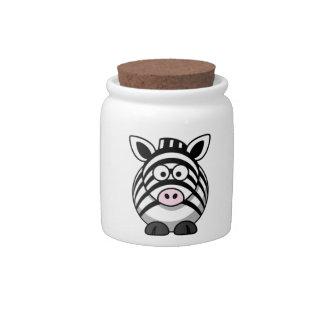 Cartoon Zebra Candy Jars