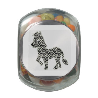 Cartoon Zebra Glass Jar