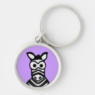 Cartoon Zebra Keychains