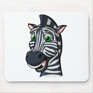 Cartoon Zebra Mouse Pad