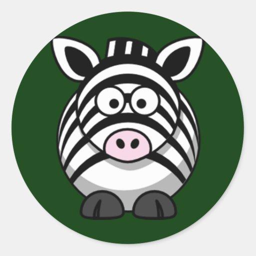 Cartoon Zebra Sticker