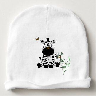 Cartoon Zebrs Baby Beanie