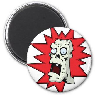 Cartoon Zombie 2 Inch Round Magnet
