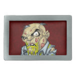 Cartoon Zombie Business Man Art by Al Rio Belt Buckle