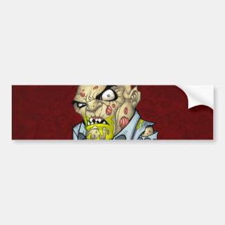 Cartoon Zombie Business Man Art by Al Rio Car Bumper Sticker