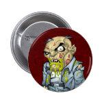 Cartoon Zombie Business Man Art by Al Rio Pinback Button
