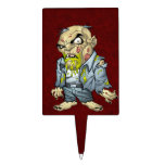 Cartoon Zombie Business Man Art by Al Rio Cake Picks
