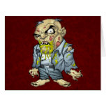 Cartoon Zombie Business Man Art by Al Rio Card
