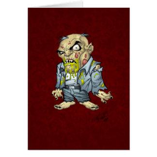 Cartoon Zombie Business Man Art by Al Rio Cards