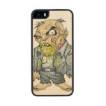 Cartoon Zombie Business Man Art by Al Rio Carved® Maple iPhone 5 Slim Case