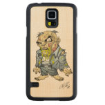 Cartoon Zombie Business Man Art by Al Rio Carved® Maple Galaxy S5 Slim Case
