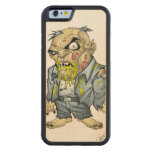Cartoon Zombie Business Man Art by Al Rio Carved® Maple iPhone 6 Bumper Case