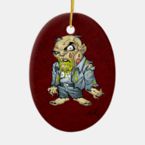 zombie, dead, cartoon, art, drawing, business, man, tatters, undead, horror, al rio, Ornament with custom graphic design