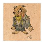 Cartoon Zombie Business Man Art by Al Rio Coaster