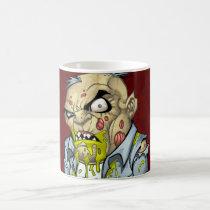 zombie, dead, cartoon, art, drawing, business, man, tatters, undead, horror, al rio, Mug with custom graphic design