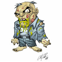 zombie, dead, cartoon, art, drawing, business, man, tatters, undead, horror, al rio, Photo Sculpture with custom graphic design