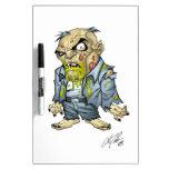 Cartoon Zombie Business Man Art by Al Rio Dry-Erase Board
