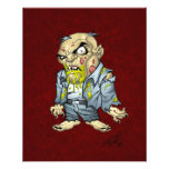 Cartoon Zombie Business Man Art by Al Rio Full Color Flyer